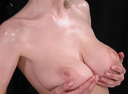 Big tits rubbing